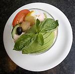Salad, La Porchetta Restaurant, London, city, England, UK, United Kingdom, Great Britain, Europe, European