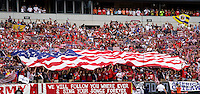 USA Fans, flag. The USMNT defeated Turkey, 2-1, at Lincoln Financial Field in Philadelphia, PA.