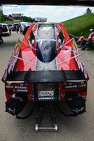 May 20, 2012; Topeka, KS, USA: NHRA funny car driver Cruz Pedregon during the Summer Nationals at Heartland Park Topeka. Mandatory Credit: Mark J. Rebilas-