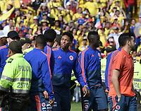 BOGOTA - COLOMBIA, 05-07-2018: Johan MOJICA, Davinson SANCHEZ jugadores de la Selección Colombia de fútbol reciben un homenaje hoy, 05 de julio de 2018, después de su participación en la Copa Mundial de la FIFA Rusia 2018. El acto tuvo lugar een el estadio Nemesio Camacho El Campín de la ciudad de Bogotá / Johan MOJICA, Davinson SANCHEZ players of Colombia national soccer team receives tribute today, July 5, 2018, after their participation in the FIFA World Cup Russia 2018. The event took place at Nemesio Camacho El Campin stadium in Bogota city. Photo: VizzorImage / Gabriel Aponte / Staff