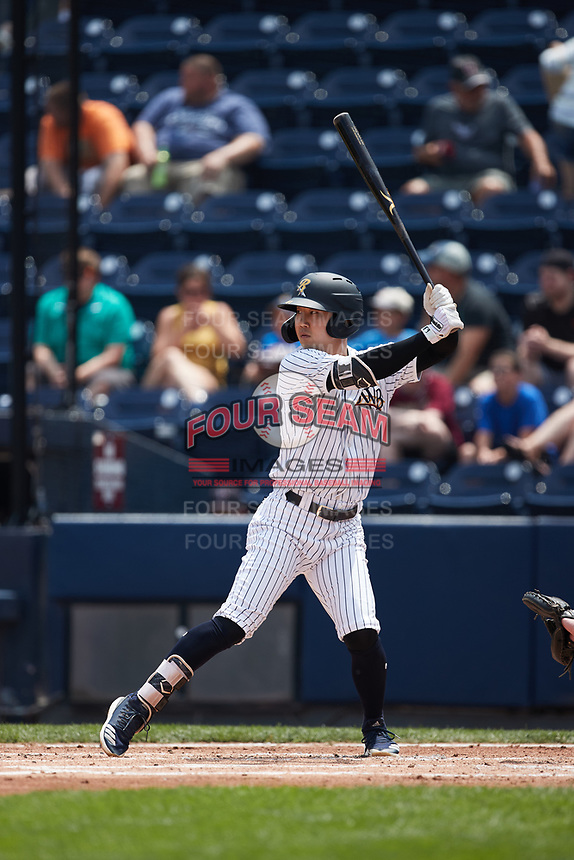 Hoy Park (41) of the Scranton/Wilkes-Barre RailRiders at bat against the Rochester Red Wings at PNC Field on July 25, 2021 in Moosic, Pennsylvania. (Brian Westerholt/Four Seam Images)