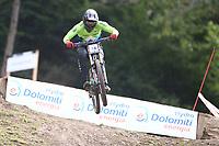 29th August 2021; Commezzadura, Trentino, Italy; 2021 Mountain Bike Cycling World Championships, Val di Sole; Downhill; Downhill final men, Jure Zabjek (SLO)