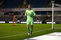 21st November 2020; The Den, Bermondsey, London, England; English Championship Football, Millwall Football Club versus Cardiff City; Goalkeeper Alex Smithies of Cardiff City