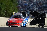 Jul, 21, 2012; Morrison, CO, USA: NHRA funny car driver Bob Tasca III during qualifying for the Mile High Nationals at Bandimere Speedway. Mandatory Credit: Mark J. Rebilas-US PRESSWIRE