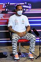 5th June 2021;  F1 Grand Prix of Azerbaijan, press conference for 44 Lewis Hamilton GBR, Mercedes-AMG Petronas F1 Team, F1 Grand Prix of Azerbaijan at Baku City Circuit