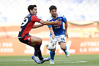 Francesco Cassata of Genoa and Dries Mertens of SSC Napoli compete for the ball during the Serie A football match between Genoa CFC and SSC Napoli stadio Marassi in Genova ( Italy ), July 08th, 2020. Play resumes behind closed doors following the outbreak of the coronavirus disease. <br /> Photo Matteo Gribaudi / Image / Insidefoto