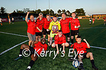A delighted Park FC celebrate in winning the Dominos Pizza Challenge Plate having defeated Kenmare in the final