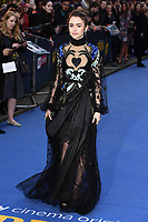 """Lily Collins<br /> arriving for the """"Extremely Wicked, Shockingly Evil And Vile"""" premiere at the Curzon Mayfair, London<br /> <br /> ©Ash Knotek  D3495  23/04/2019"""