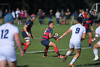 Action from the Hurricanes regional 1st XV rugby final between Palmerston North Boys' High School and Hastings Boys' High School at Massey University in Palmerston North, New Zealand on Saturday, 31 August 2019. Photo: Dave Lintott / lintottphoto.co.nz