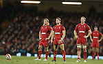 Wales fullback Leigh Halfpenny lines up a penalty kick.<br /> <br /> 2013 Dove Men Series<br /> Wales v South Africa<br /> Millennium Stadium<br /> 09.11.13<br /> ©Steve Pope-Sportingwales