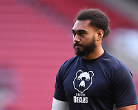8th September 2020; Ashton Gate Stadium, Bristol, England; Premiership Rugby Union, Bristol Bears versus Northampton Saints; Chris Vui of Bristol Bears warms up