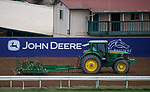 DEL MAR, CA - OCTOBER 30: Tractors harrow the track during renovation break between morning workout sessions at Del Mar Thoroughbred Club on October 30, 2017 in Del Mar, California. (Photo by Jon Durr/Eclipse Sportswire/Breeders Cup)
