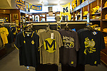 Retro-styled tees are the newest items sold to promote the Notre Dame-Michigan throw-back game this season, at Moe's Sports Shop, Saturday, Sept. 3, 2011 in Ann Arbor, Mich. (Tony Ding for The New York Times)
