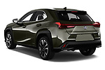 Car pictures of rear three quarter view of a 2019 Lexus UX Privilege-Line 5 Door SUV angular rear
