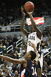 Nevada's Ryan Hill shoots over Bucknell defender Ryan HIll during a second round NIT college basketball game in Reno, Nev. , on Sunday, March 18, 2012. Nevada won 75-67..Photo by Cathleen Allison