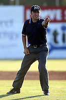 2007 MiLB Umpire Harry Oschip during the New York-Penn League League season.  Photo By  Mike Janes/Four Seam Images