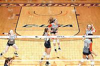SAN ANTONIO, TX - NOVEMBER 4, 2016: The University of Texas at San Antonio Roadrunners defeat the Florida Atlantic University Owls 3-0 (25-15, 27-25, 25-7) at the UTSA Convocation Center. (Photo by Jeff Huehn)