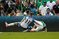 Mexico City, Mexico - Sunday June 11, 2017: Paul Arriola during a 2018 FIFA World Cup Qualifying Final Round match with both men's national teams of the United States (USA) and Mexico (MEX) playing to a 1-1 draw at Azteca Stadium.