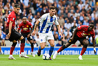 Pascal Gross of Brighton & Hove Albion (13) during the Premier League match between Brighton and Hove Albion and Manchester United at the American Express Community Stadium, Brighton and Hove, England on 19 August 2018. Photo by Edward Thomas / PRiME Media Images.
