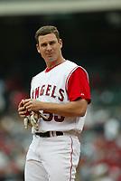 Jeff DaVanon of the Anaheim Angels during a 2003 season MLB game at Angel Stadium in Anaheim, California. (Larry Goren/Four Seam Images)