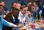 St Johnstone Hall of Fame Dinner, Perth Concert Hall...05.10.13<br /> Nigel Hasselbaink, Paddy Cregg and Stevie May watch the awards<br /> Picture by Graeme Hart.<br /> Copyright Perthshire Picture Agency<br /> Tel: 01738 623350  Mobile: 07990 594431