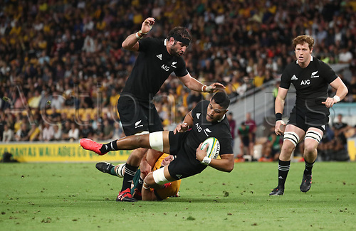 7th November 2020, Brisbane, Australia; Tri Nations International rugby union, Australia versus New Zealand;  Tupou Vaa'i of The Allblacks in action