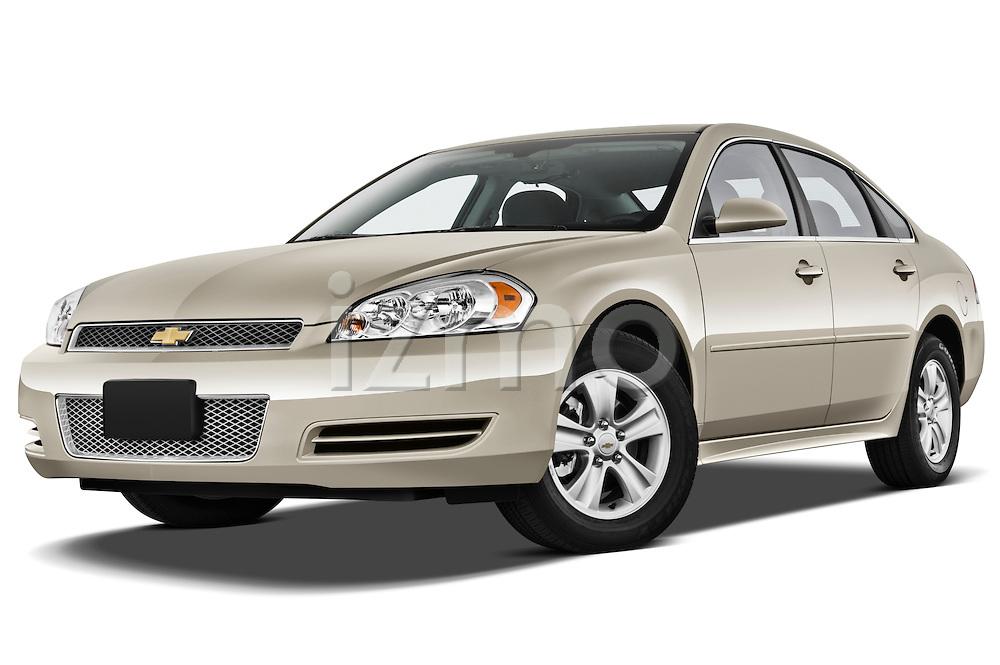 Low aggressive front three quarter view of a 2012 Chevrolet Impala LS .