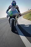 Jully 25th 2010 : Laguna Seca, USA. The electric Superbike MotoCzysz E1Pc win Laguna Seca, California electric FIM race called e-Power before the MotoGP. Same bike won the Tourist Trophy electric race in the Isle of Man TT Zero in June 2010.