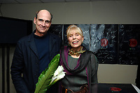 Canadian Songwriters Hall of Fame inductee Joni Mitchell with long-time friend and gala performer James Taylor. (CNW Group/Canadian Songwriters Hall of Fame)