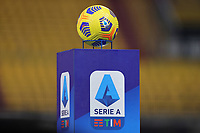 The official Serie A ball is seen over a pedestal with Serie A logo printed on prior to the Serie A football match between Benevento Calcio and AC Milan at stadio Ciro Vigorito in Benevento (Italy), January 03rd, 2021. <br /> Photo Cesare Purini / Insidefoto