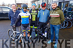 Colin Scott, John James Griffin, Brian Murphy, Ian Redmond and Alan Jones at the Lacey Cup cycling on Sunday.