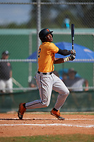 Elijah Green (2) during the WWBA World Championship at Terry Park on October 11, 2020 in Fort Myers, Florida.  Elijah Green, a resident of Windermere, Florida who attends IMG Academy, is committed to Miami.  (Mike Janes/Four Seam Images)