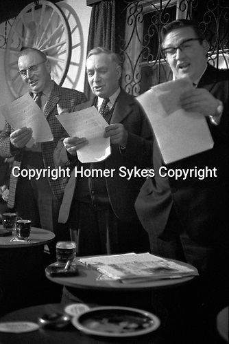 Annual Lane Setting auction Ratcliffe Culey Leicestershire at the Gate Inn. The First thursday after Easter 1968. Selling of the Grazing Rights in and around the Parish of Ratcliffe Culey and then the singing of the traditional song Little Yellow Bird and then others.