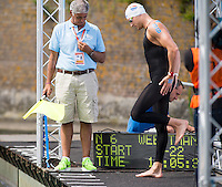 WEERTMAN Ferry NED with starter PRAYER Andrea<br /> Hoorn, Netherlands <br /> LEN 2016 European Open Water Swimming Championships <br /> Open Water Swimming<br /> Men's 5km<br /> Day 02 12-07-2016<br /> Photo Giorgio Perottino/Deepbluemedia/Insidefoto