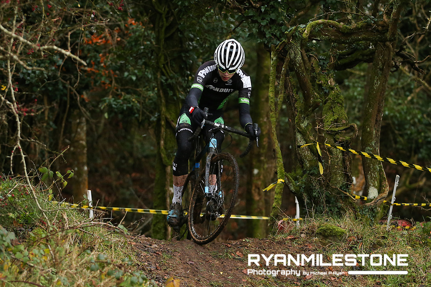 EVENT:<br /> Round 5 of the 2019 Munster CX League<br /> Drombane Cross<br /> Sunday 1st December 2019,<br /> Drombane, Co Tipperary<br /> <br /> CAPTION:<br /> Patrick O'Loughlin of Panduit Carrick Wheelers in action during the U16 Race<br /> <br /> Photo By: Michael P Ryan