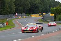 #52 AF Corse Ferrari 488 GTE EVO LMGTE Pro, Daniel Serra, Miguel Molina, Sam Bird, 24 Hours of Le Mans , Race, Circuit des 24 Heures, Le Mans, Pays da Loire, France
