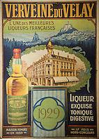 Europe/France/Auvergne/43/Haute-Loire/Le Puy-en-Velay: Ancienne publicité pour la verveine du Velay - Distillerie Pagès (verveine du Velay), RN88, Sortie Zl Blavozy //   Old advertising verbena Velay - Distillery Pagès