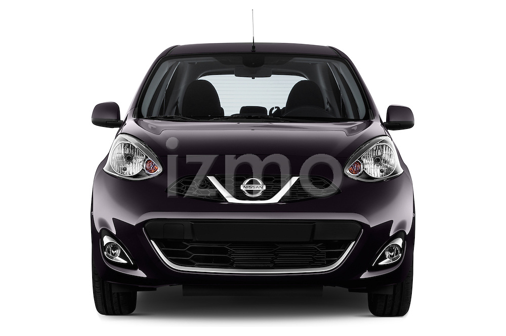 Straight front view of a 2013 - 2014 Nissan MICRA 5 Door Hatchback 2WD