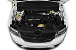 Car Stock 2020 Dodge Journey Crossroad 5 Door SUV Engine  high angle detail view