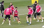 Real Madrid's Sergio Ramos, Jese Rodriguez, Alvaro Arbeloa, Nacho Fernandez and Toni Kroos during training session.January 30,2015.(ALTERPHOTOS/Acero)