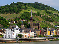 Lorchhausen am Rhein, Hessen, Deutschland, Europa<br /> Lorchhausen at river Rhine, Hesse, Germany, Europe