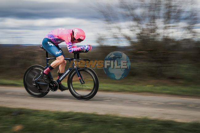 Sep Vanmarcke (BEL) EF Pro Cycling in action during Stage 4 of the 78th edition of Paris-Nice 2020, and individual time trial running 15.1km around Saint-Amand-Montrond, France. 11th March 2020.<br /> Picture: ASO/Fabien Boukla | Cyclefile<br /> All photos usage must carry mandatory copyright credit (© Cyclefile | ASO/Fabien Boukla)