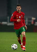 Footbal Soccer: FIFA World Cup Qatar 2022 Qualification, Portugal - Azerbaijan, Allianz Stadium , Turin, March 24, 2021.<br /> Portugal's André Silva in action during the FIFA World Cup Qatar 2022 qualification, football match between Portugal and Azerbaijan, at Allianz Stadium in Turin, on March 24, 2021.<br /> UPDATE IMAGES PRESS/Isabella Bonotto