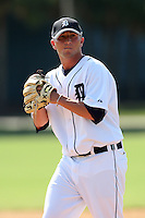 Detroit Tigers minor league pitcher Matt Little vs. the Philadelphia Phillies during an Instructional League game at Tiger Town in Lakeland, Florida;  October 13, 2010.  Photo By Mike Janes/Four Seam Images
