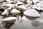 East Branch of the Pemigewasset River in Lincoln, New Hampshire USA during the winter months