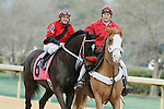 #8 Kiss Moon with jockey Terry J. Thompson aboard during post parade of the running of the Honeybee Stakes (Grade III) at Oaklawn Park in Hot Springs, Arkansas-USA on March 8, 2014. (Credit Image: © Justin Manning/Eclipse/ZUMAPRESS.com)