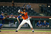 AZL Giants right fielder Mikey Edie (16) at bat against the AZL Rangers on September 4, 2017 at Scottsdale Stadium in Scottsdale, Arizona. AZL Giants defeated the AZL Rangers 6-5 to advance to the Arizona League Championship Series. (Zachary Lucy/Four Seam Images)