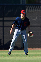 Cleveland Indians Nathan Lukes (36) during an instructional league game against the Milwaukee Brewers on October 8, 2015 at the Maryvale Baseball Complex in Maryvale, Arizona.  (Mike Janes/Four Seam Images)