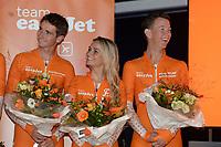 SCHAATSEN: HEERENVEEN: 25-10-2018, Presentatie Team EasyJet, Irene en Simon Schouten, ©foto Martin de Jong