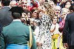 """Queen Letizia during award ceremony of literature in Spanish """"Miguel de Cervantes"""" at University of Alcala de Henares in Madrid., April 20, 2017. Spain.<br /> (ALTERPHOTOS/BorjaB.Hojas)"""